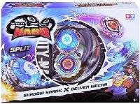 Infinity Nado - Shadow Shark vs Delver Mecha - Комплект 2 бойни пумпала - играчка