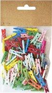 Цветни дървени щипки - Комплект от 100 броя с дължина 25 mm