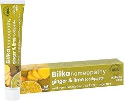 """Bilka Homeopathy Ginger & Lime Toothpaste - Хомеопатична паста за зъби с джинджифил и лимон от серията """"Homeopathy"""" - продукт"""