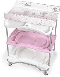 Шкаф с вана за къпане и повивалник - Atlantis -