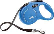 Flexi Classic S Tape 5 m - Автоматичен повод с лента с дължина 5 m за кучета с тегло до 15 kg -