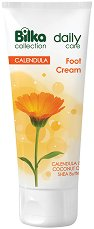 Bilka Collection Daily Care Foot Cream - Крем за крака и стъпала с невен, кокосово масло и масло от ший - олио