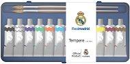 Темперни бои - ФК Реал Мадрид - Комплект от 12 цвята x 10 ml и 2 четки за рисуване