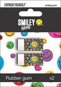 """Гума за моливи - Усмивки - Комплект от 2 броя от серията """"SmileyWorld"""""""