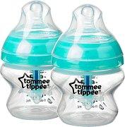 Бебешки шишета за хранене - Advanced Anti-Colic Plus 150 ml - Комплект от 2 броя със силиконов биберон за бебета от 0+ месеца - шише