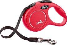 Flexi Classic XS Tape 3 m - Автоматичен повод с лента с дължина 3 m за животни с тегло до 12 kg -
