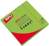 Самозалепващи неонови листчета - Кубче от 100 листчета с размери 7.5 x 7.5 cm