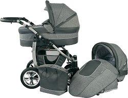 Бебешка количка 2 в 1 - Leo - С 4 колела -
