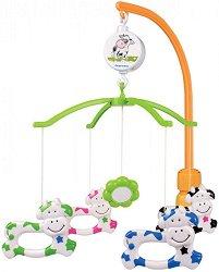 Музикална въртележка - Cow - Играчка за бебешко креватче -