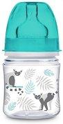 Бебешко шише за хранене с широко гърло - Easy Start 120 ml: Jungle - Комплект със силиконов биберон за бебета от 0+ месеца -