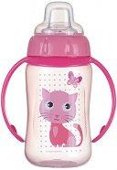 Неразливаща се чаша с мек накрайник и дръжки 320 ml - За бебета над 6 месеца -