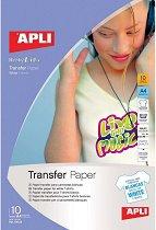 Трансферна хартия за мастиленоструен принтер - За декорация на светъл текстил