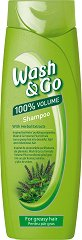 Wash & Go Shampoo With Herbal Extract - Шампоан за обем за мазна коса с билков екстракт - шампоан