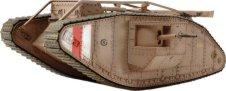 Британски танк - Mark IV Male - Сглобяем модел със задвижване -