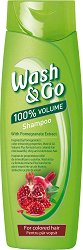 Wash & Go Shampoo With Pomegranate Extract - Шампоан за обем за боядисана коса с екстракт от нар - маска