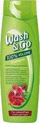 Wash & Go Shampoo With Pomegranate Extract - Шампоан за обем за боядисана коса с екстракт от нар - продукт