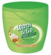 Wash & Go Mask With Argan, Camellia and Almond Oil - Възстановяваща маска за всеки тип коса с масла от арган, камелия и бадем - продукт