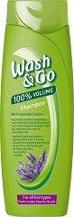 Wash & Go Shampoo With Lavender Extract - Шампоан за обем за всеки тип коса с екстракт от лавандула -