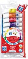 Темперни бои - Комплект от 10 цвята х 10 ml и четка