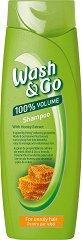 Wash & Go Sampoo With Honey Extract - Шампоан за обем за непокорна коса с екстракт от мед -