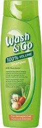 Wash & Go Shampoo With Shea Butter - Шампоан за обем за увредена коса с масло от ший - балсам