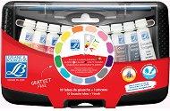 Темперни боички - College Box - Комплект от 10 цвята х 10 ml и четка
