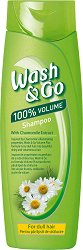 Wash & Go Shampoo With Camomile Extract - Шампоан за блясък и обем с екстракт от лайка - сапун