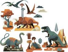 Стикери за декорация - Динозаври - Комплект от 25 броя