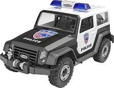 Полицейски офроуд джип - Сглобяем модел за деца - макет