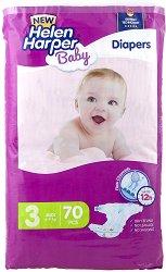 Helen Harper Baby New 3 - Midi - Пелени за еднократна употреба за бебета с тегло от 4 до 9 kg -