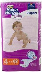 Helen Harper Baby New 4 - Maxi - Пелени за еднократна употреба за бебета с тегло от 7 до 18 kg -