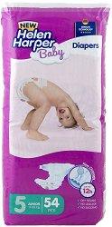 Helen Harper Baby New 5 - Junior - Пелени за еднократна употреба за бебета с тегло от 11 до 25 kg -