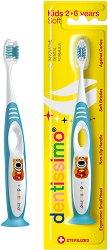 Dentissimo Kids 2 - 6 Years Soft Toothbrush - Четка за зъби с меки влакна за деца на възраст между 2 и 6 години -