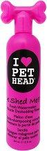 Pet Head De Shed Me Rinse - Изплакващ лосион за кучета за премахване на падаща козина - опаковка от 354 ml -