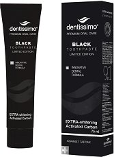 Dentissimo Extra Withening Black Toothpaste - Избелваща паста за зъби с активен въглен -