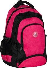 Ученическа раница - Розово и черно - Комплект с калъф за таблет - раница