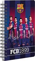 Бележник със спирала - ФК Барселона : Формат А6 с широки редове - продукт