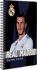 Ученическа тетрадка - ФК Реал Мадрид : Формат А5 с широки редове - 70 листа -