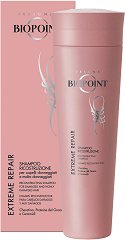 Biopoint Extreme Repair Reconstructing Shampoo - Възстановяващ и реконструиращ шампоан за изтощена и силно увредена коса -