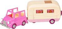 """Автомобил с каравана - Къщички и аксесоари от серията """"Lil Woodzeez"""" - играчка"""