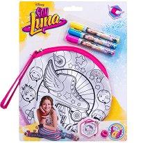 """Оцвети сама - Несесер - Творчески комплект от серията """"Soy Luna"""" - детски аксесоар"""