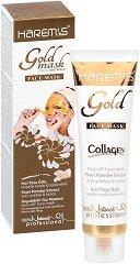 Harem's Gold Face Mask Pearl Powder Extract - Отлепяща се маска за лице против бръчки с екстракт от перлен прах - маска