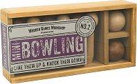 Мини боулинг - Комплект за игра в дървена кутия -