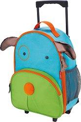 """Детски куфар с колелца - Кученцето Дарби - От серията """"Zoo"""" -"""