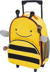"""Детски куфар с колелца - Пчеличката Бруклин - От серията """"Zoo"""" -"""