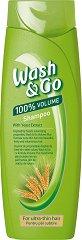 Wash & Go Shampoo With Yeast Extract - Шампоан за много тънка коса с екстракт от мая - дамски превръзки