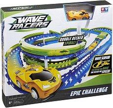 Wave Racers - Epic Challenge - Комплект писта и състезателна кола със сензор за движение - топка