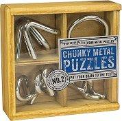 """Chunky Metal Puzzles - 4 логически 3D пъзела от серията """"Academy"""" -"""