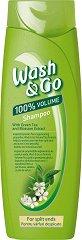 Wash & Go Shampoo With Green Tea & Blossom Extract -