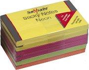 Самозалепващи неонови листчета - Кубче от 100 листчета с размери 12.7 x 7.6 cm
